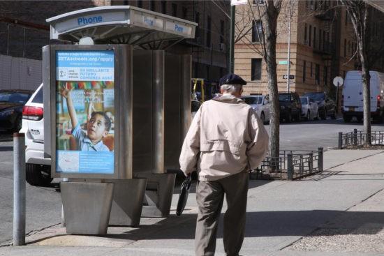 Zeta Charter Schools New York City Phone Kiosk Advertising