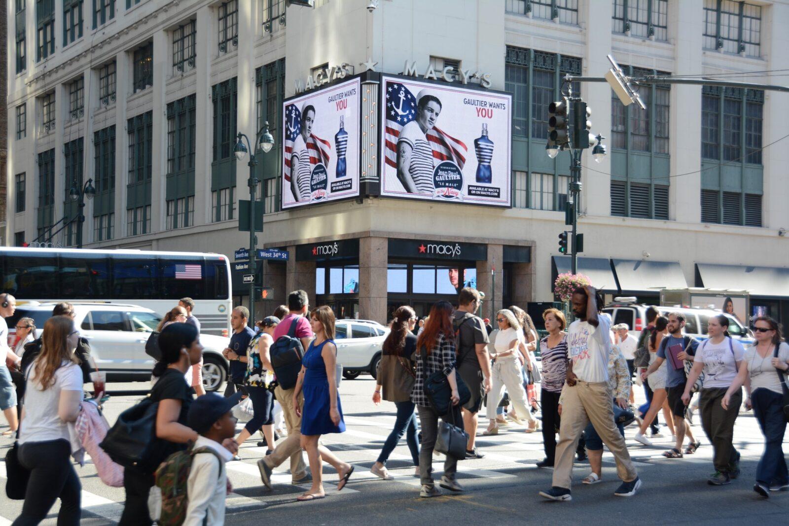 Prada Macy's Digital Billboard Advertising Campaign