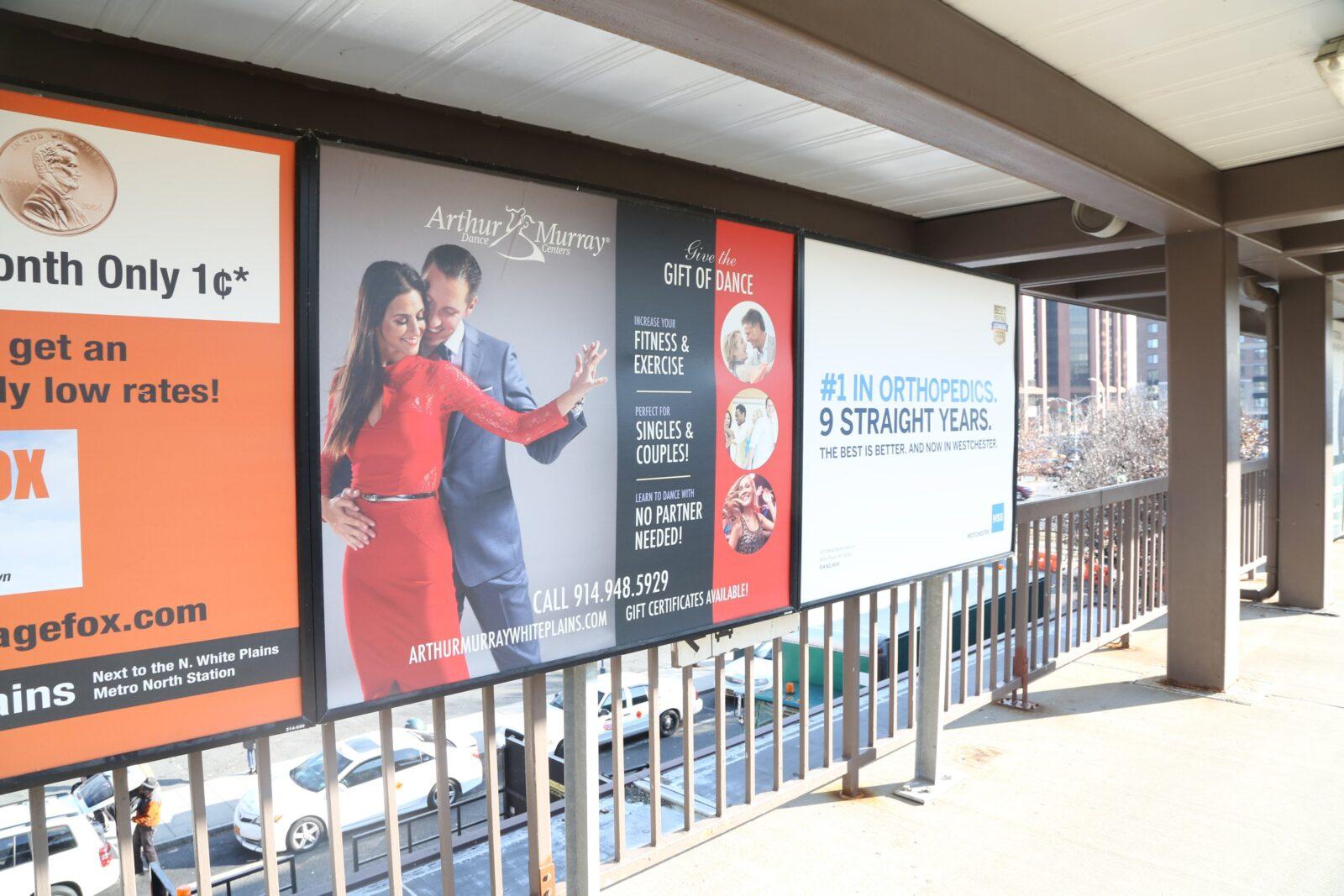 Arthur Murray Dance Studio Rail Platform Advertising Campaign