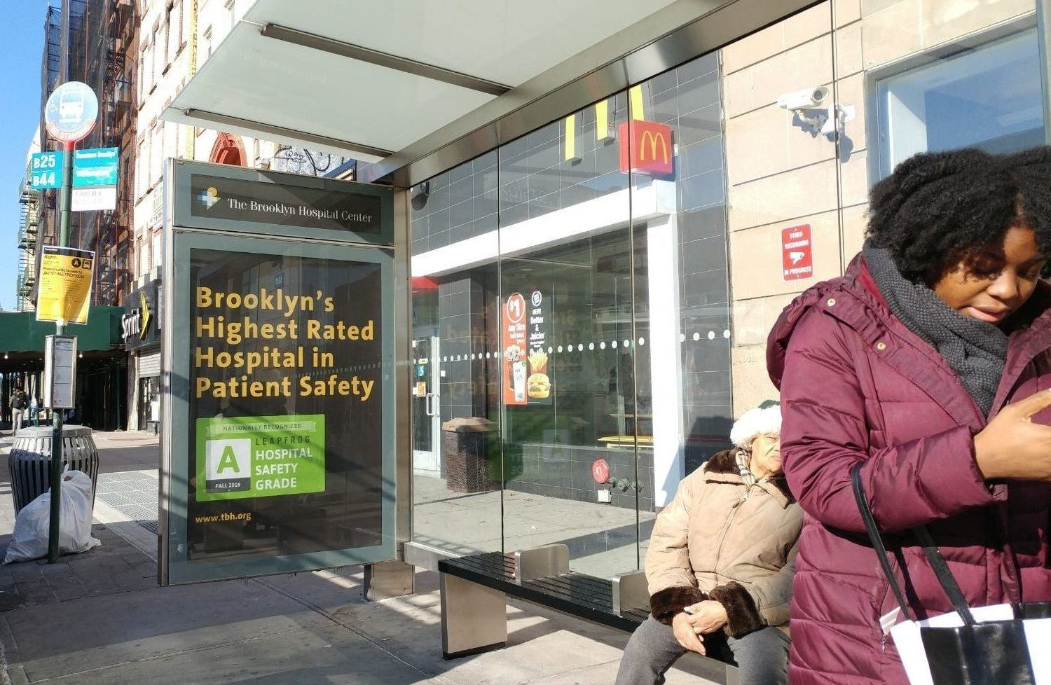 The Brooklyn Hospital Center Bus Shelter Advertising Campaign