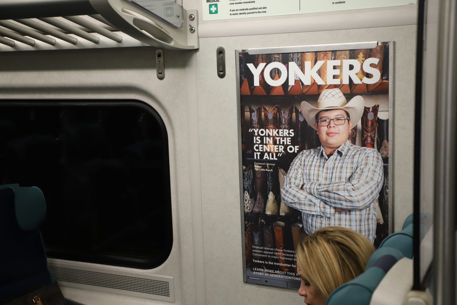 Generation Yonkers Rail Interior Car Card Advertising Campaign