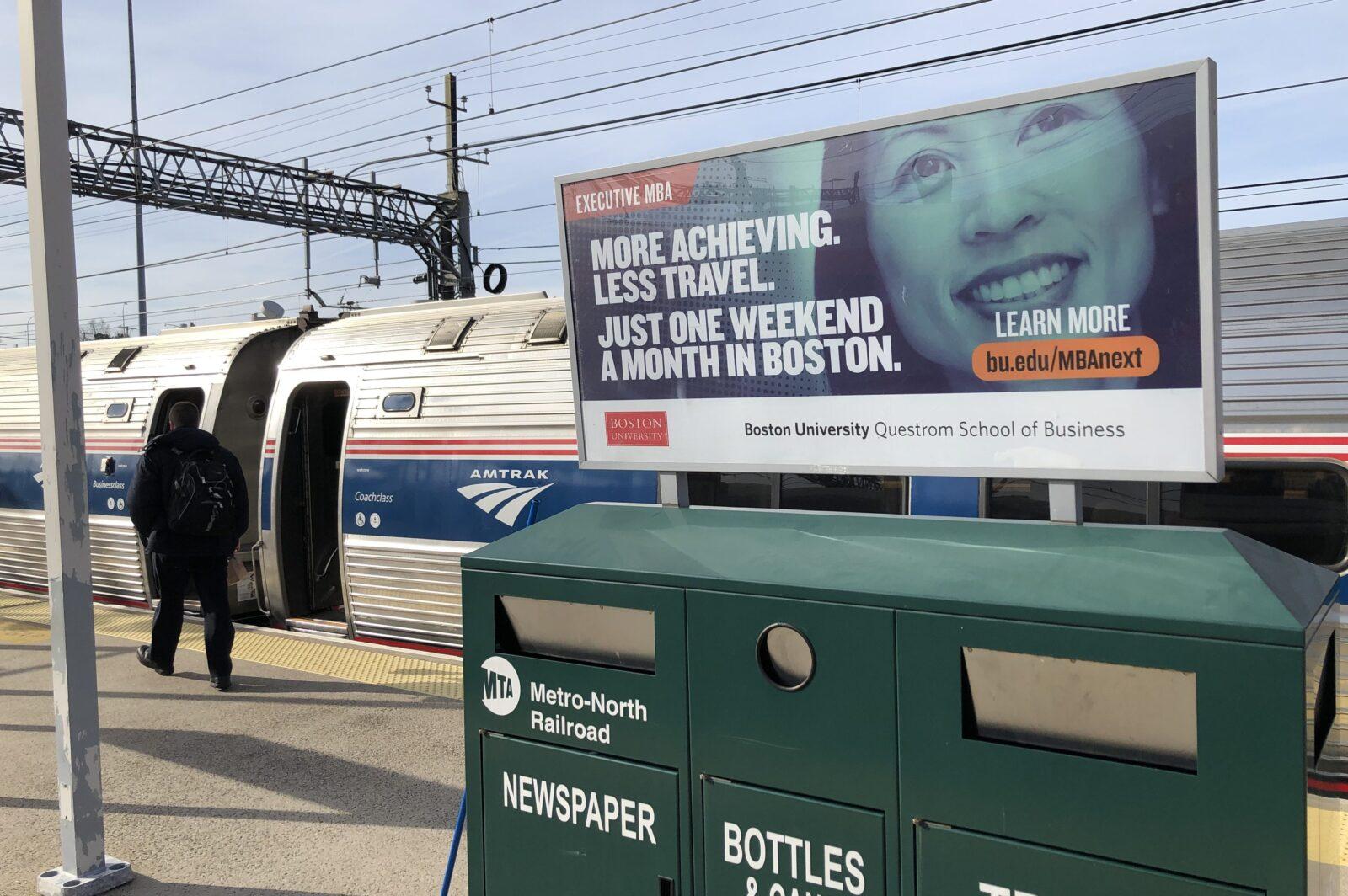 Boston University Rail Platform Advertising