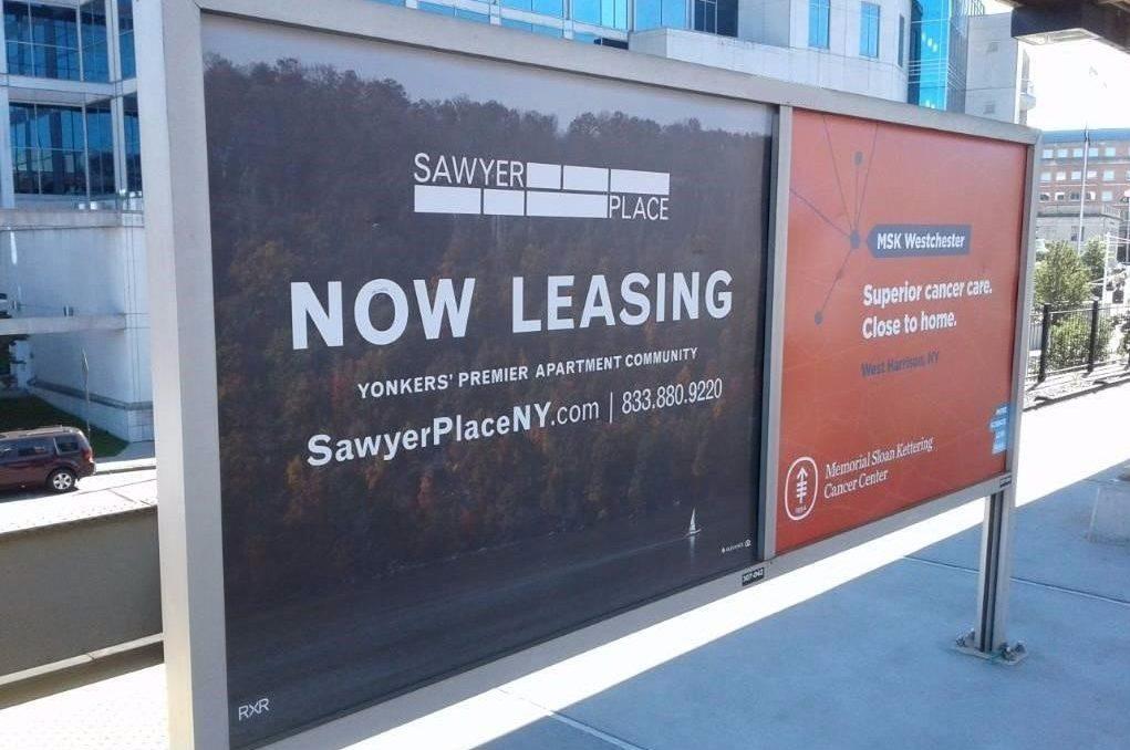 Sawyer Place Rail Platform Advertising Campaign