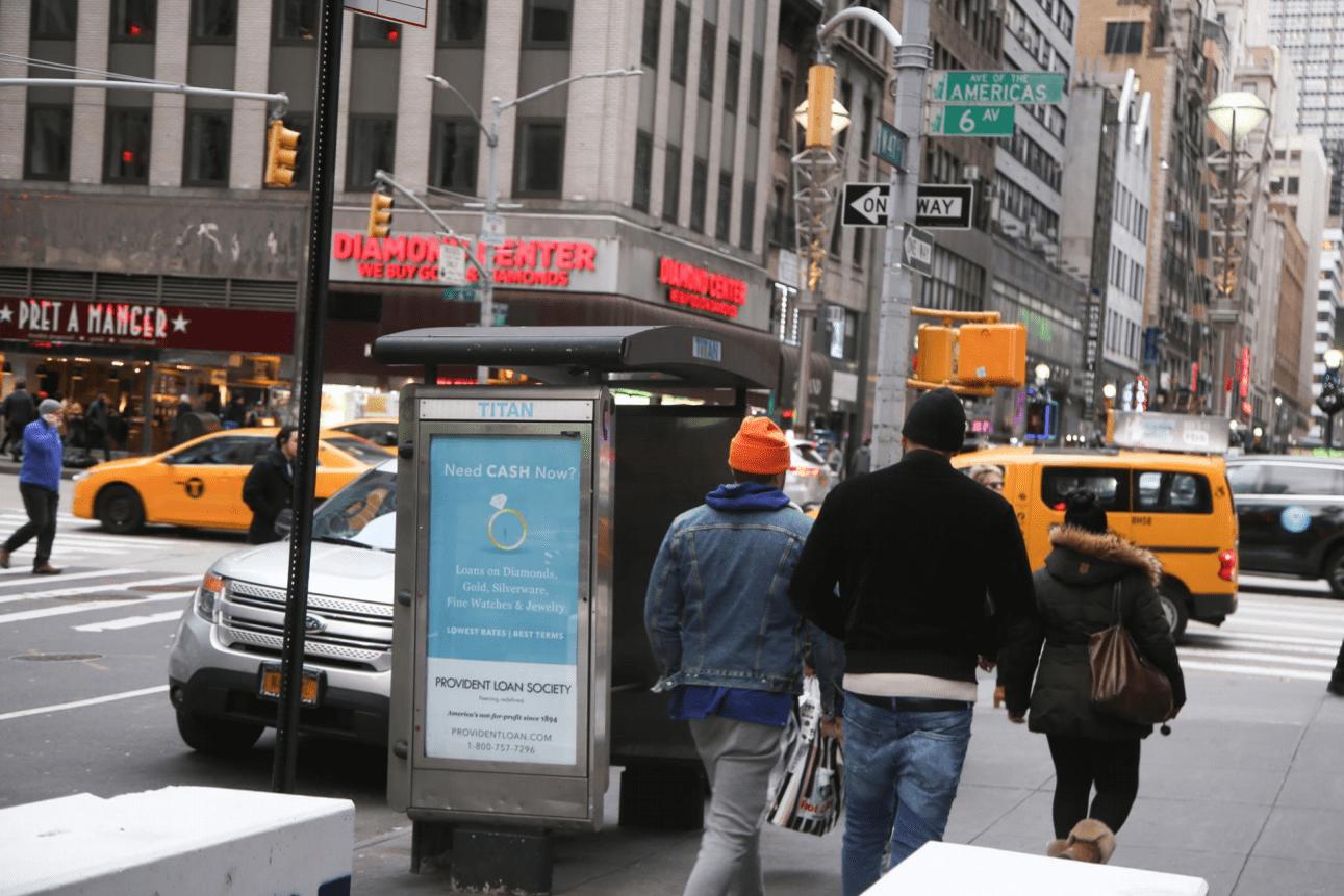 Provident Loan Society Phone Kiosk Advertising Campaign