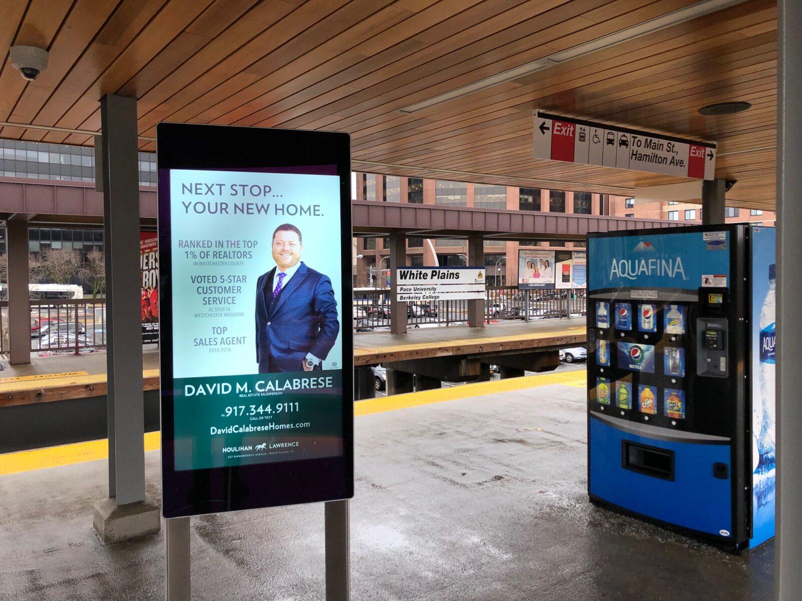 Houlihan Lawrence Digital Rail Platform Advertising Campaign