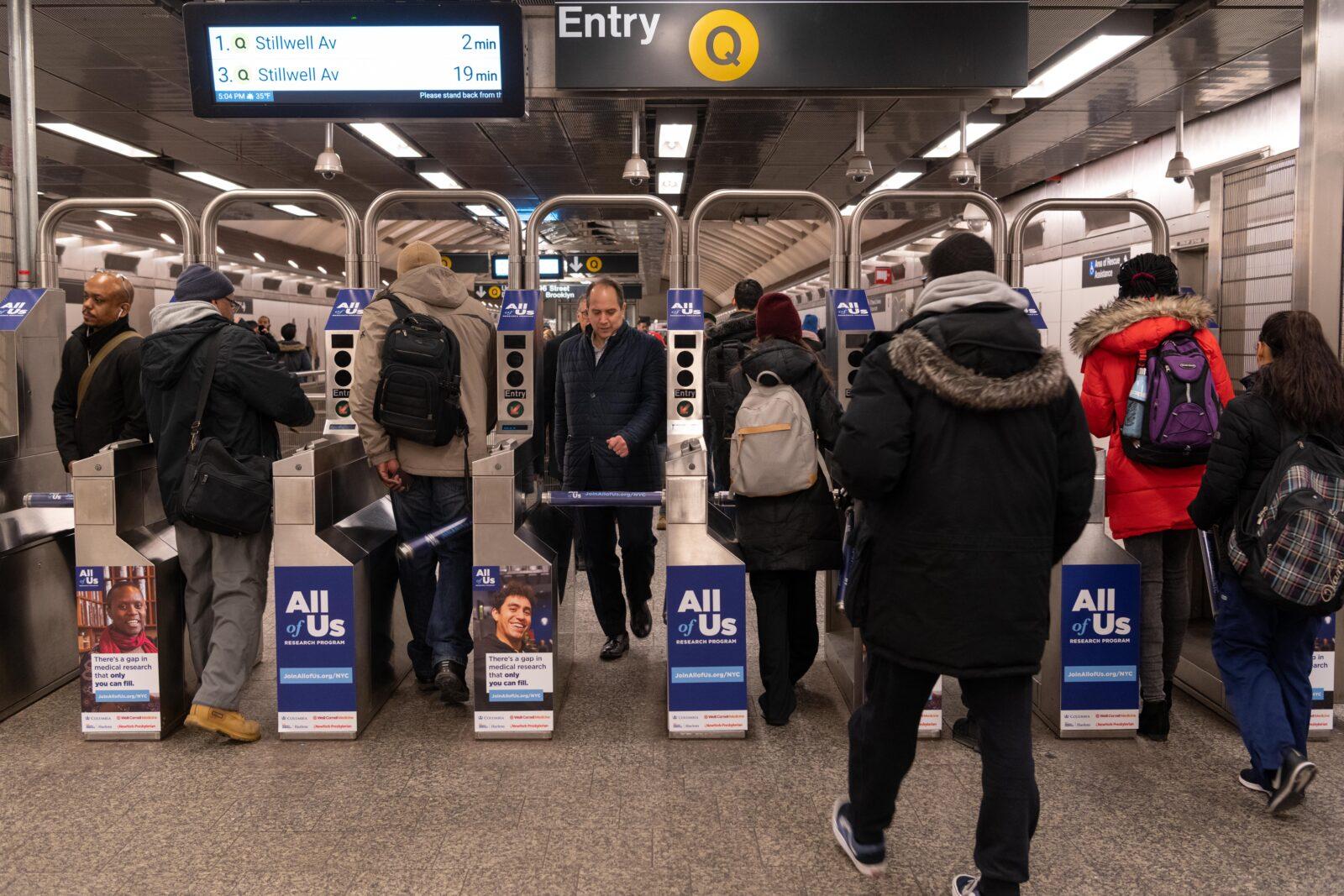 subway turnstile advertising