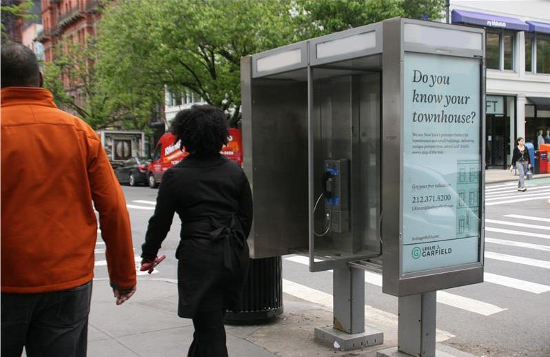 Leslie Garfield Telephone Kiosk Advertising Campaign