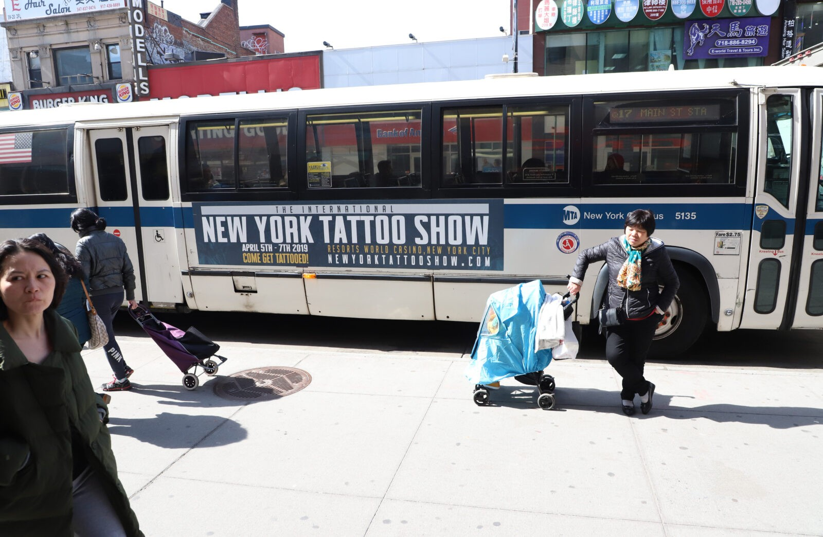 New York Tattoo Show Bus Exterior Advertising Campaign