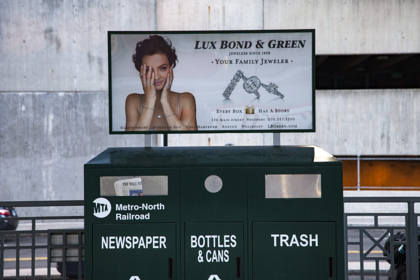 Lux Bond & Green Rail Platform Kiosk Poster Advertising
