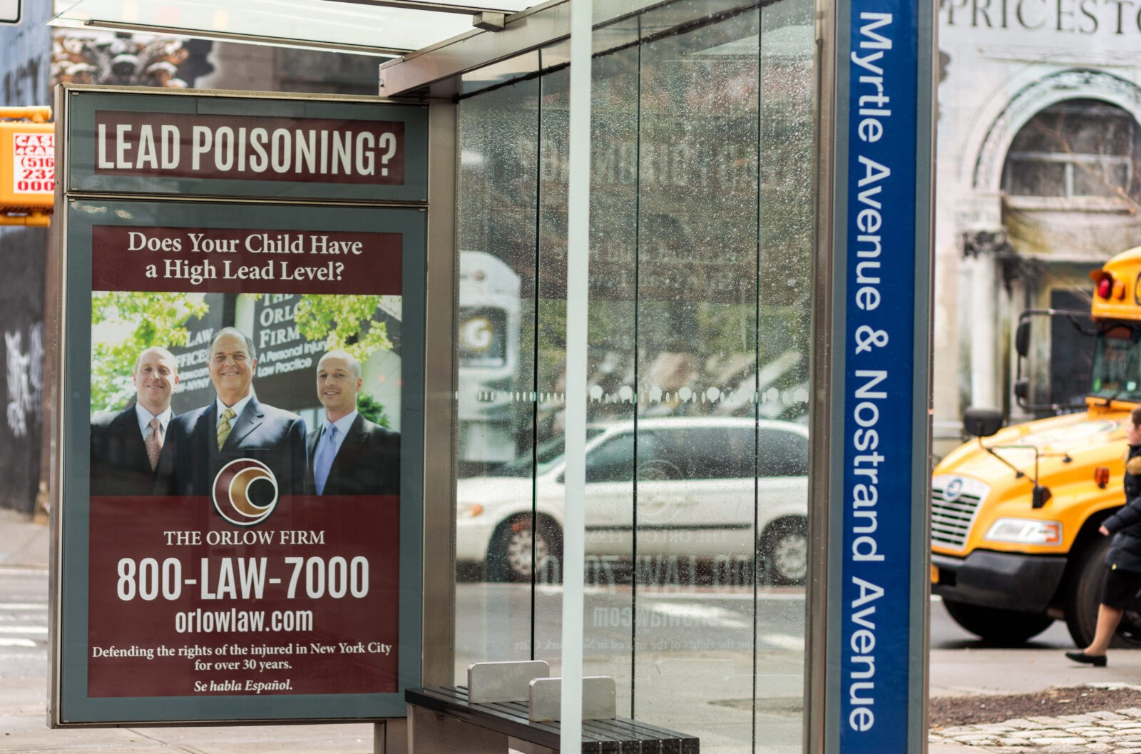 The Orlow Firm Bus Shelter Advertising Campaign