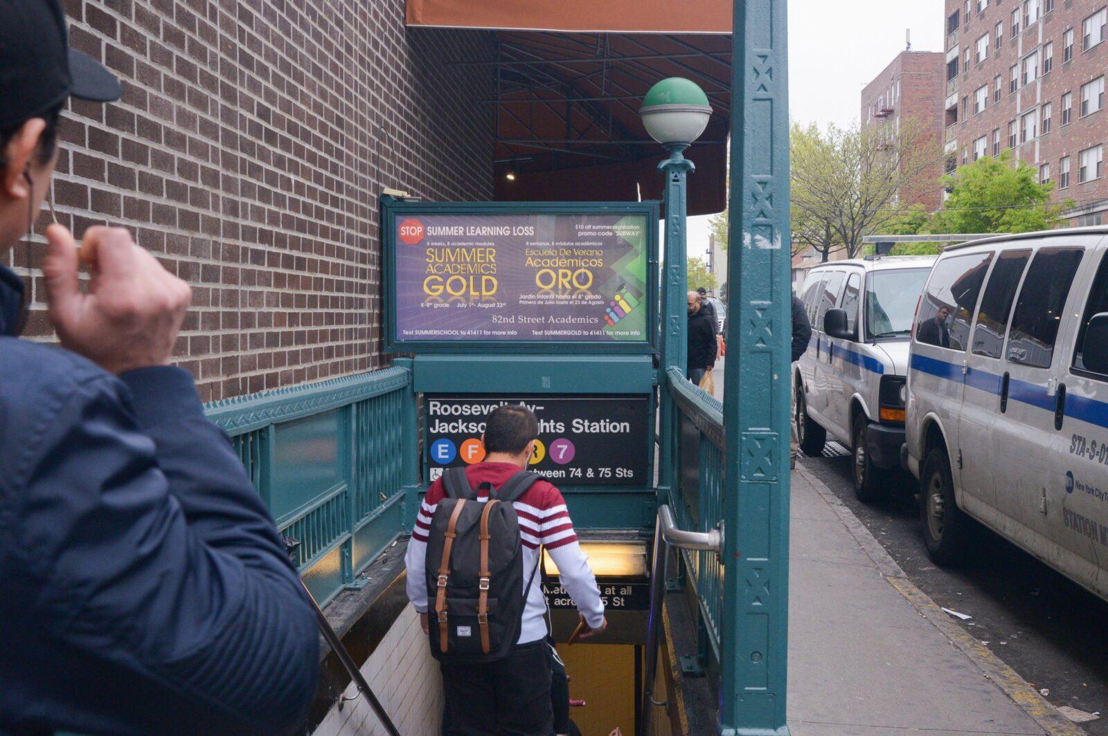 Urban Panel Advertising Subway Advertising 82nd Street Academics