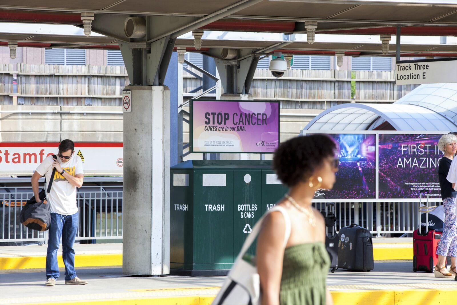 The Jackson Laboratory Stop Cancer Rail Platform Advertising