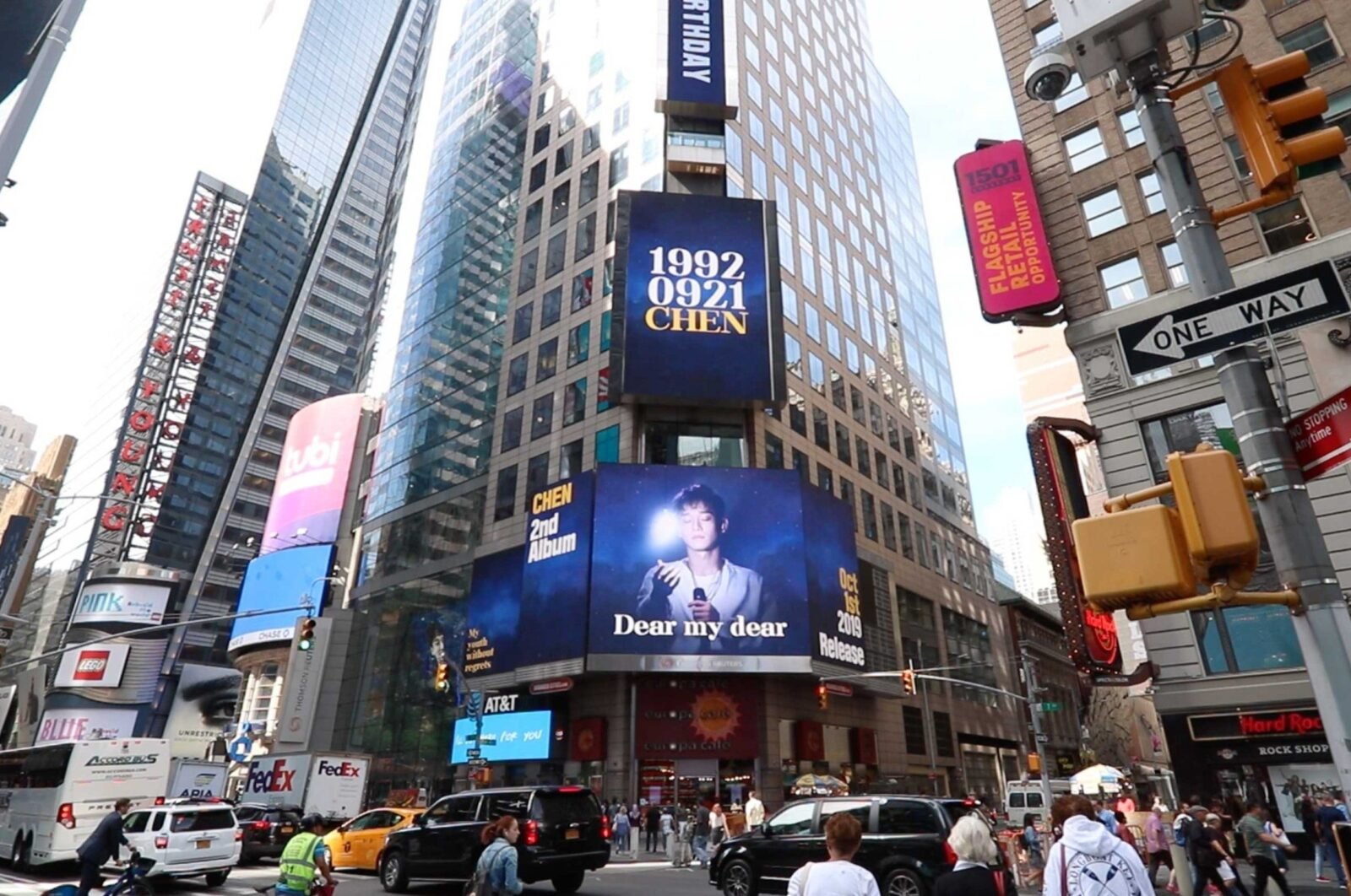 Chen EXO Times Square Advertising