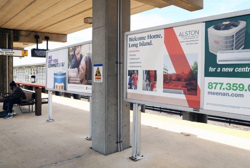 Alston Station Square LIRR Rail Platform Poster Advertising