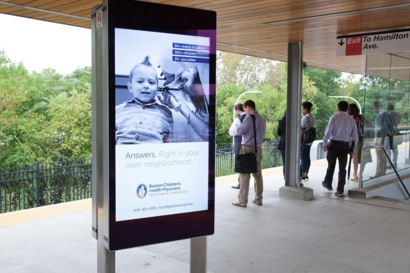 Boston Childrens Health Physicians Metro North White Plains Station Rail Platform Digital Advertising