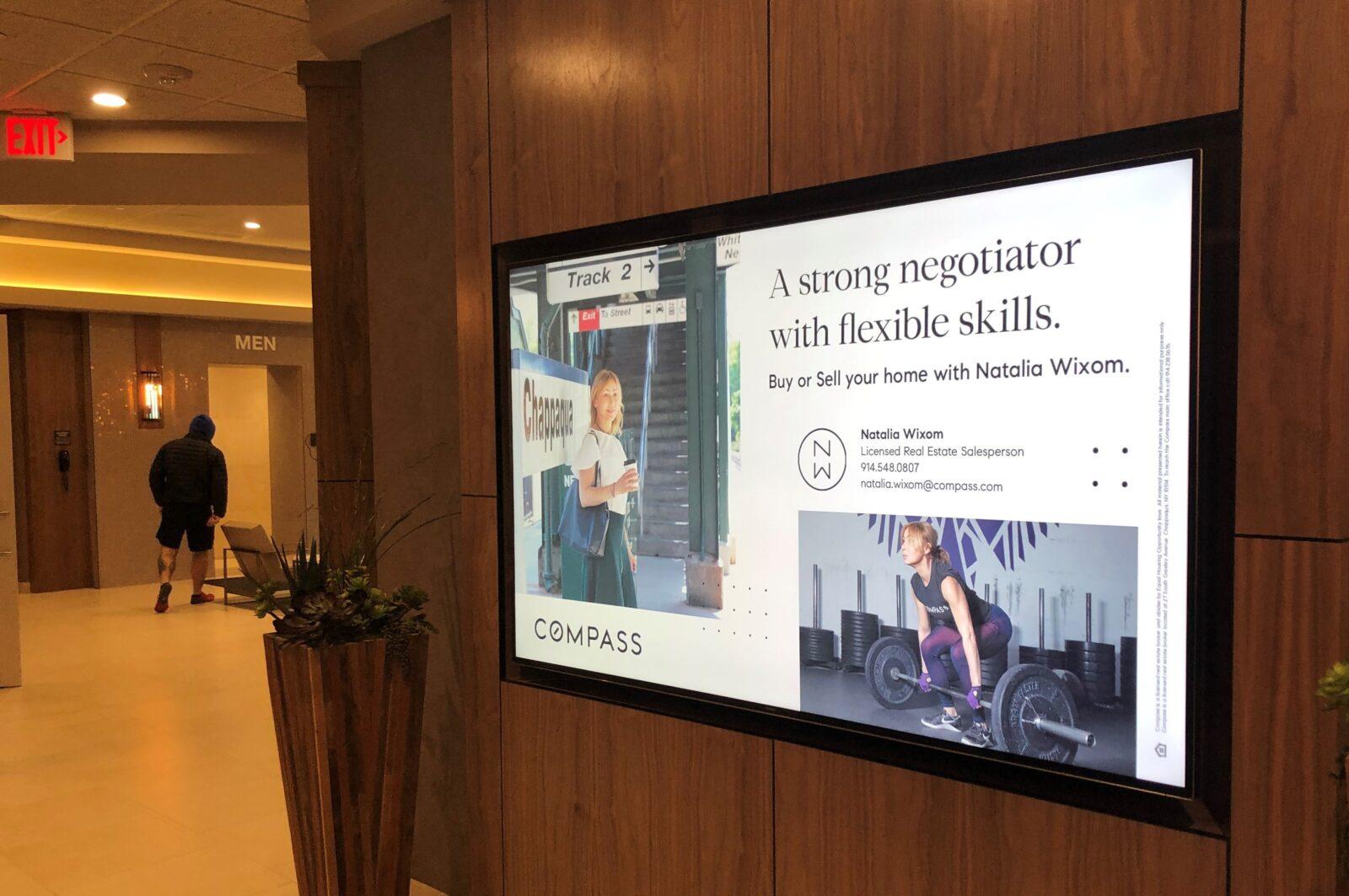 Natalia Wixom Lifetime Fitness Digital Display