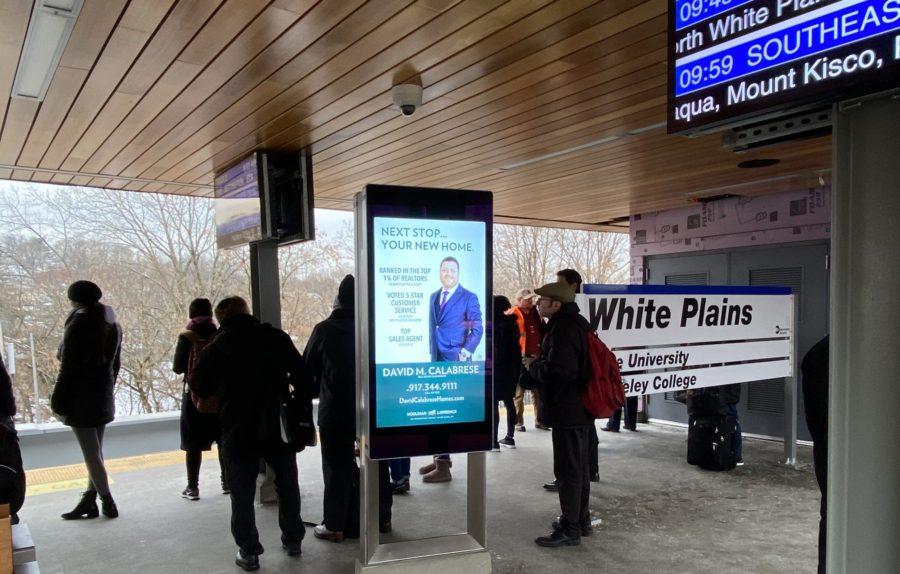 David Calabrese Rail Platform Digital Advertising Metro North White Plains