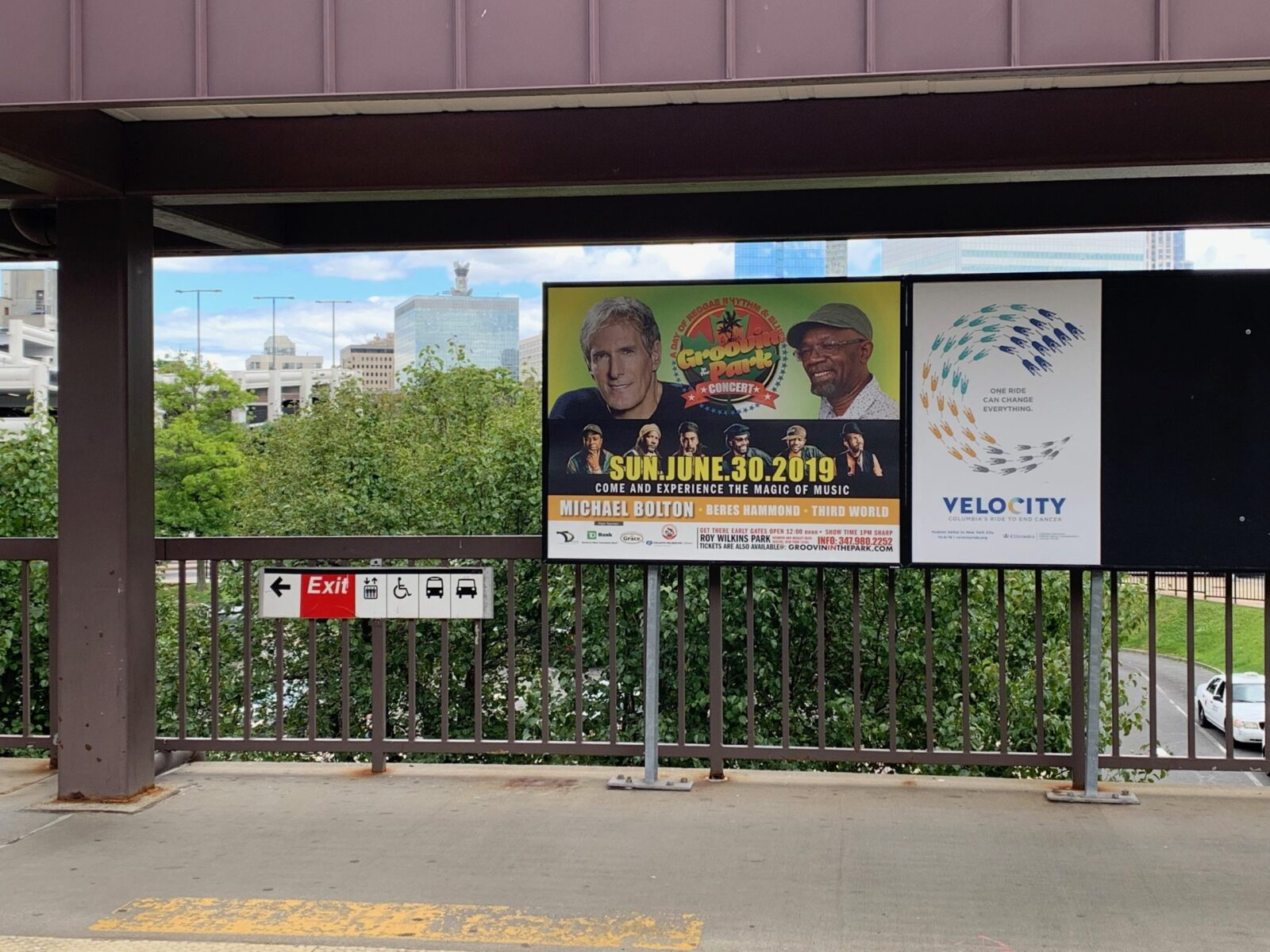 Groovin In The Park Rail Platform Advertising