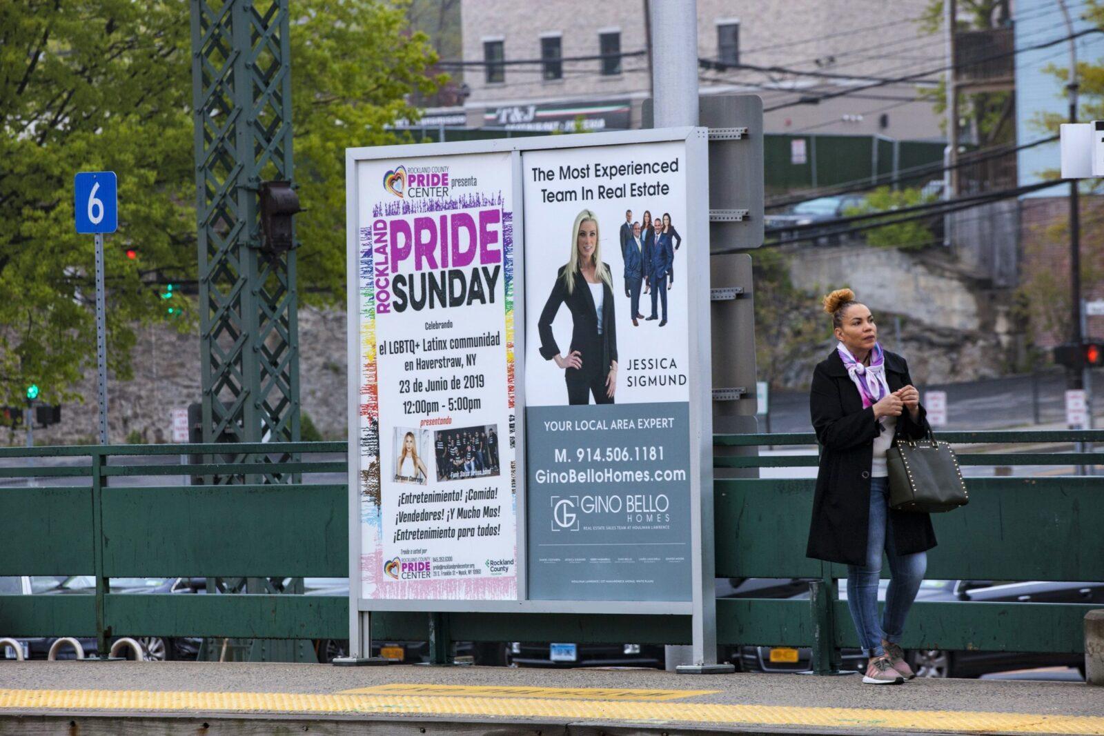 Rocklaand Pride Center Rail Platform Advertising