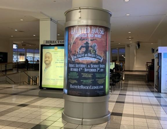 The Haunt at Rocky Ledge Galleria Mall Advertising