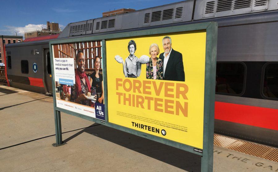 WNET Forever Thirteen Metro North Advertising Platform Poster