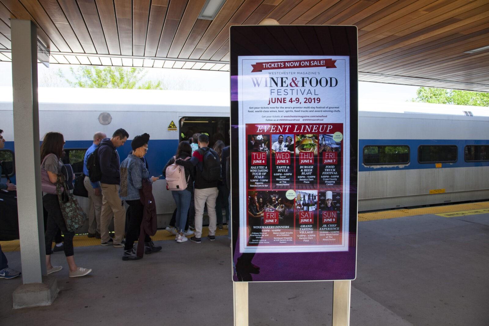 Westchester Wine & Food Festival Digital Rail Platform Advertising