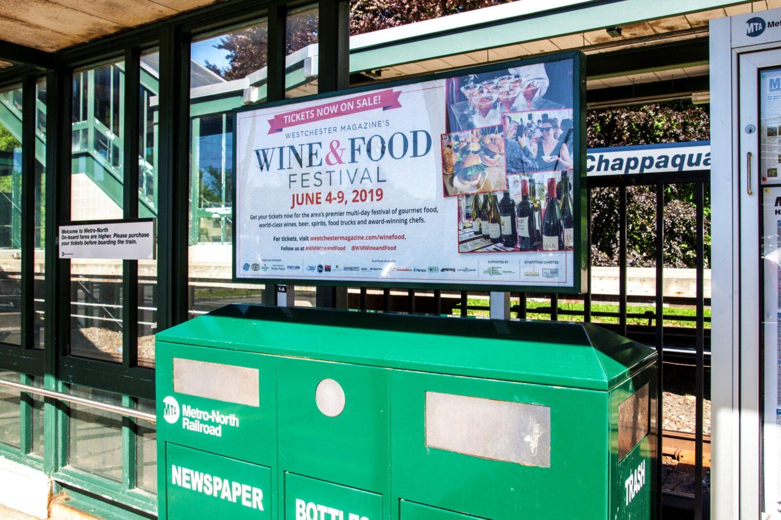 Westchester Wine & Food Festival Rail Platform Advertising
