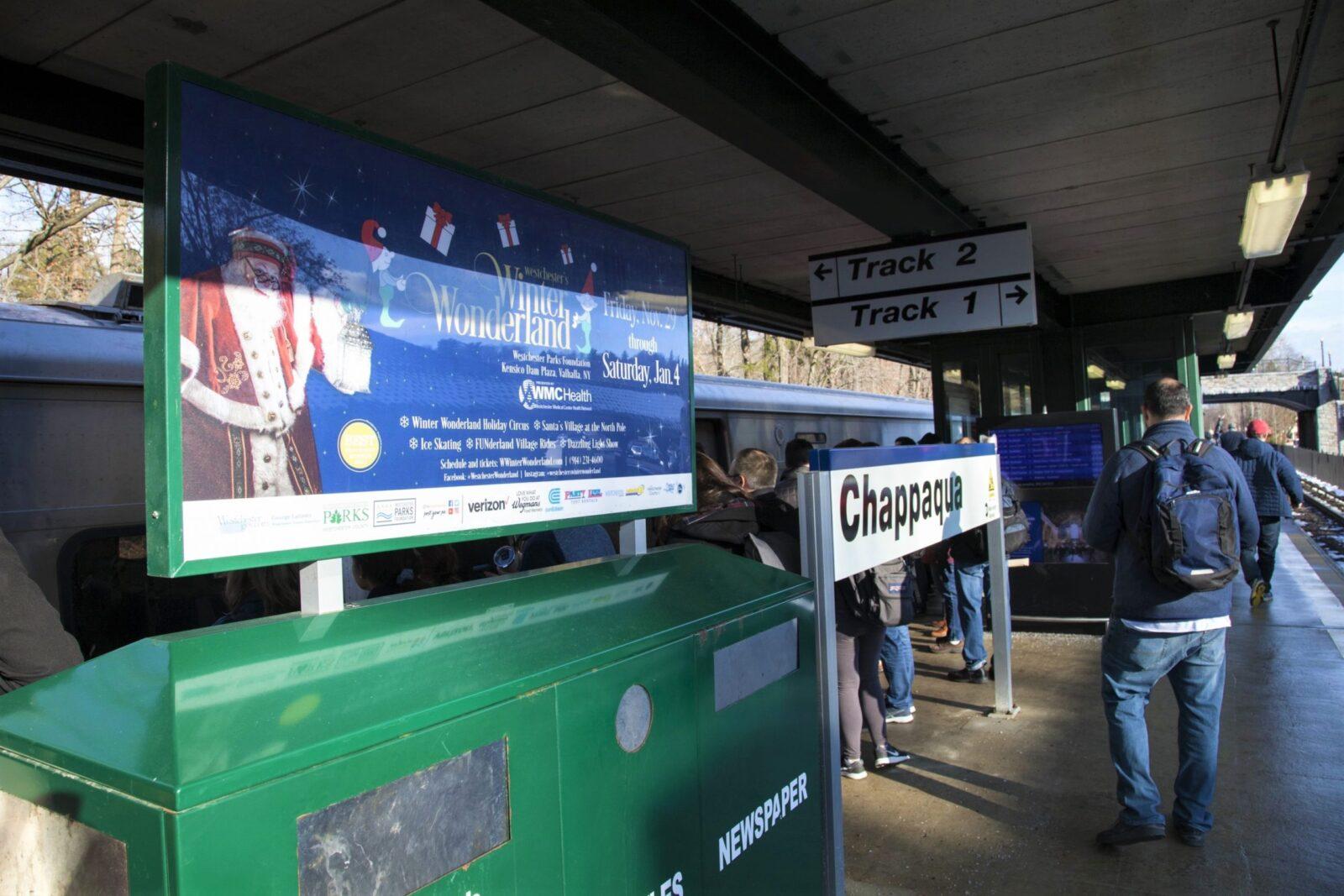 Winter Wonderland Rail Platform Digital Advertising