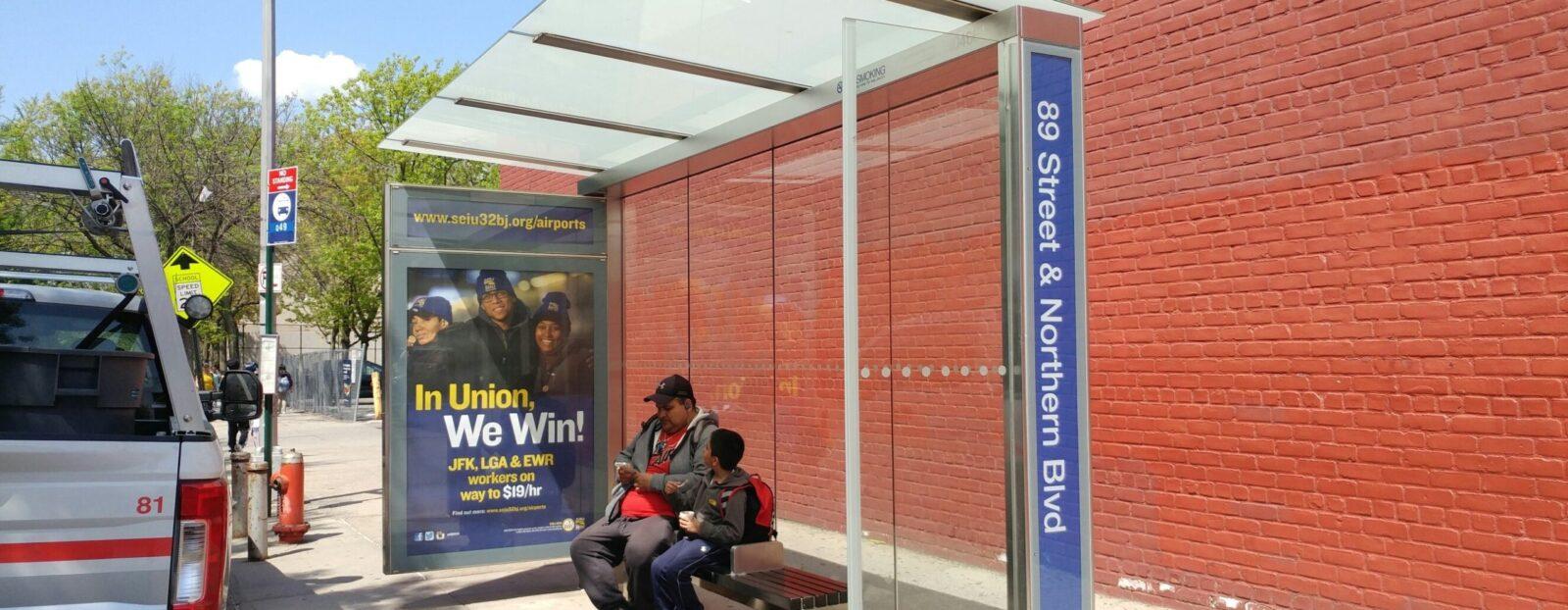 32BJ Bus Shelter Poster Advertising
