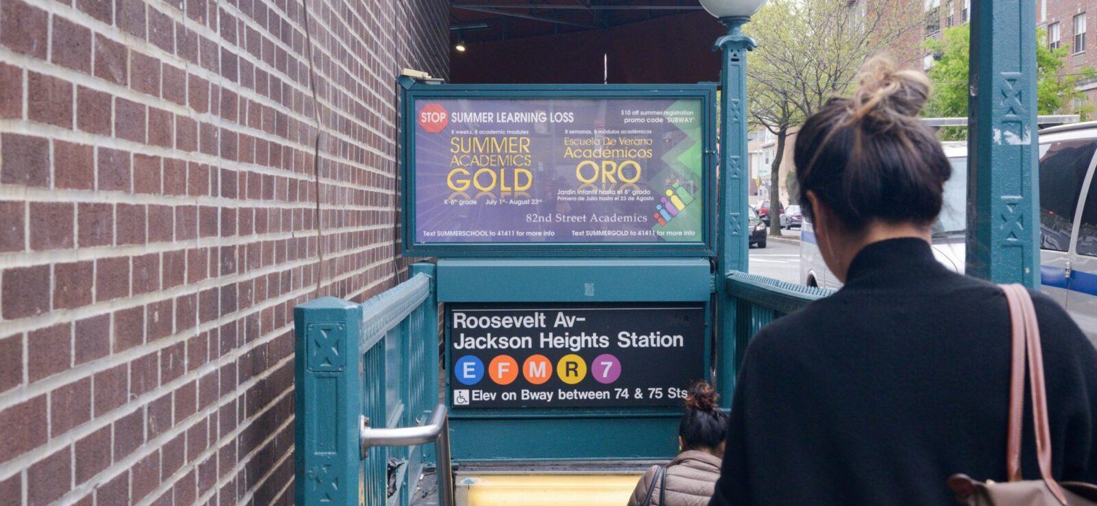 82nd Street Academics Subway Urban Panel Advertising