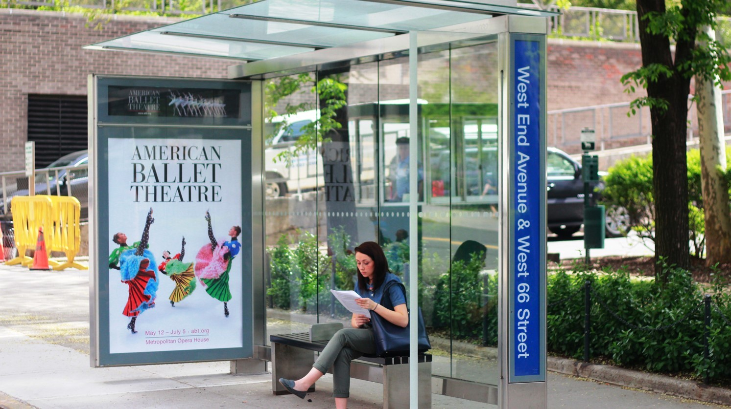 American Ballet Theatre Bus Shelter Advertising