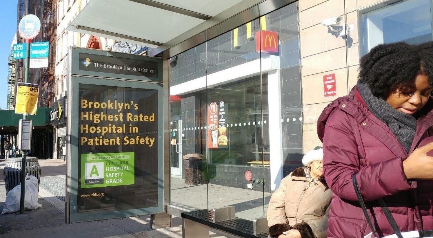 Brooklyn Hospital Bus Shelter Advertising