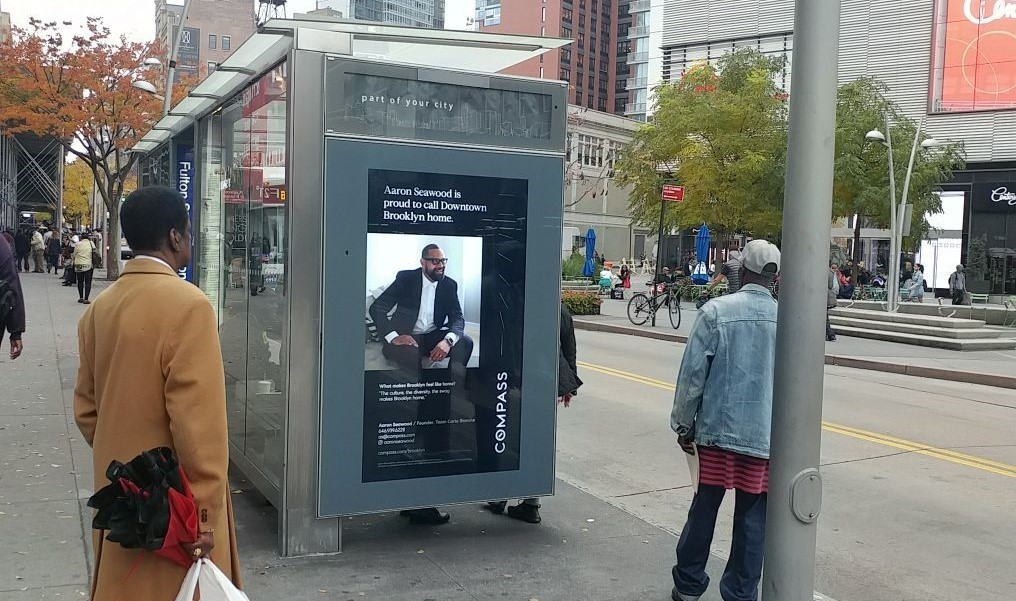 Compass Real Estate Bus Shelter Advertising
