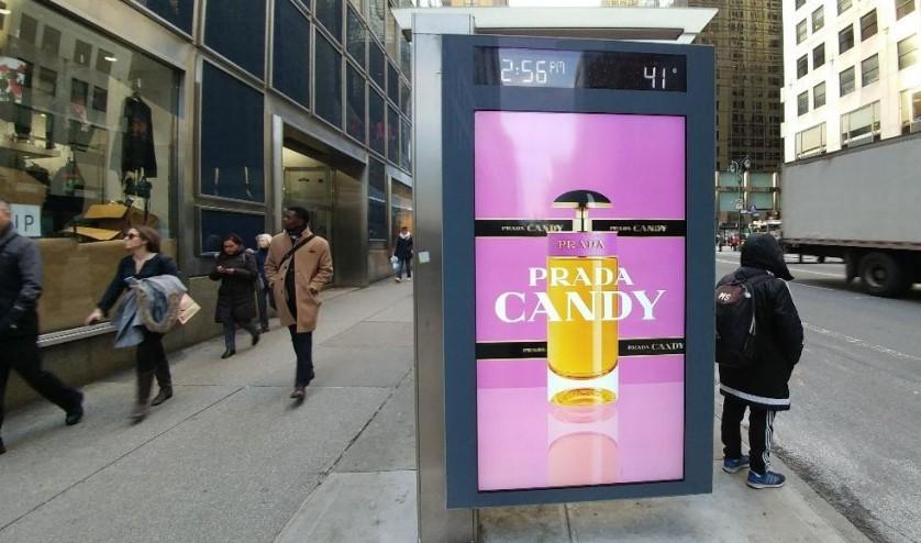 Prada Bus Shelter Advertising