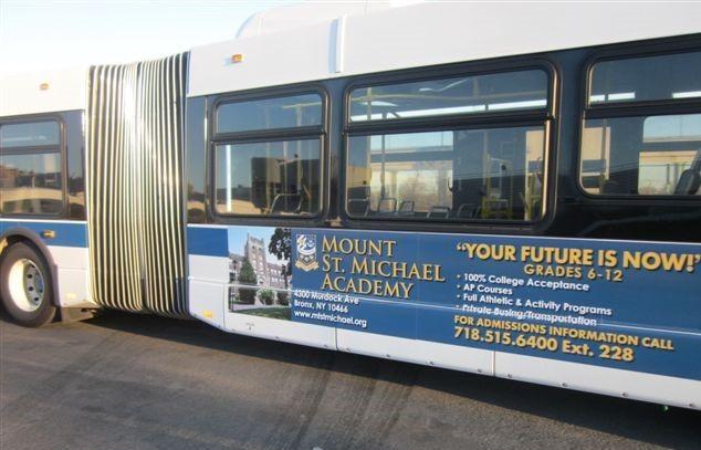 St Michael Acadamy Bus King Poster Advertising