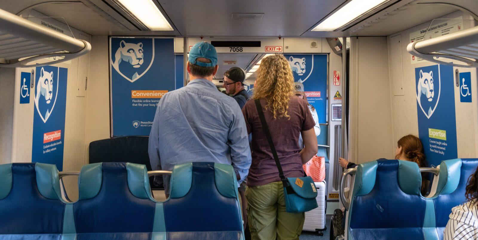 Penn State Rail Interior Advertising