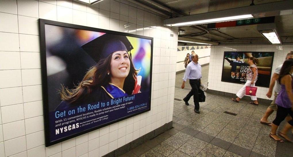 Touro College Subway Platform Poster Advertising