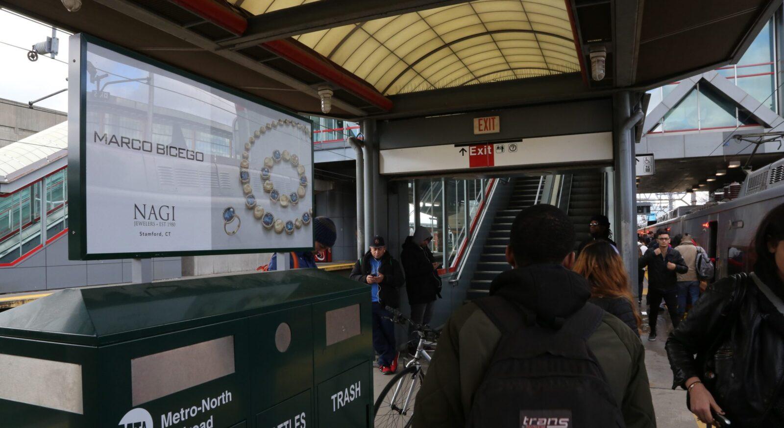 NAGI Jewelers Rail Platform Advertising