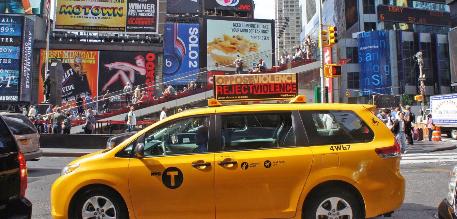 WOVEN Taxi Top Advertising