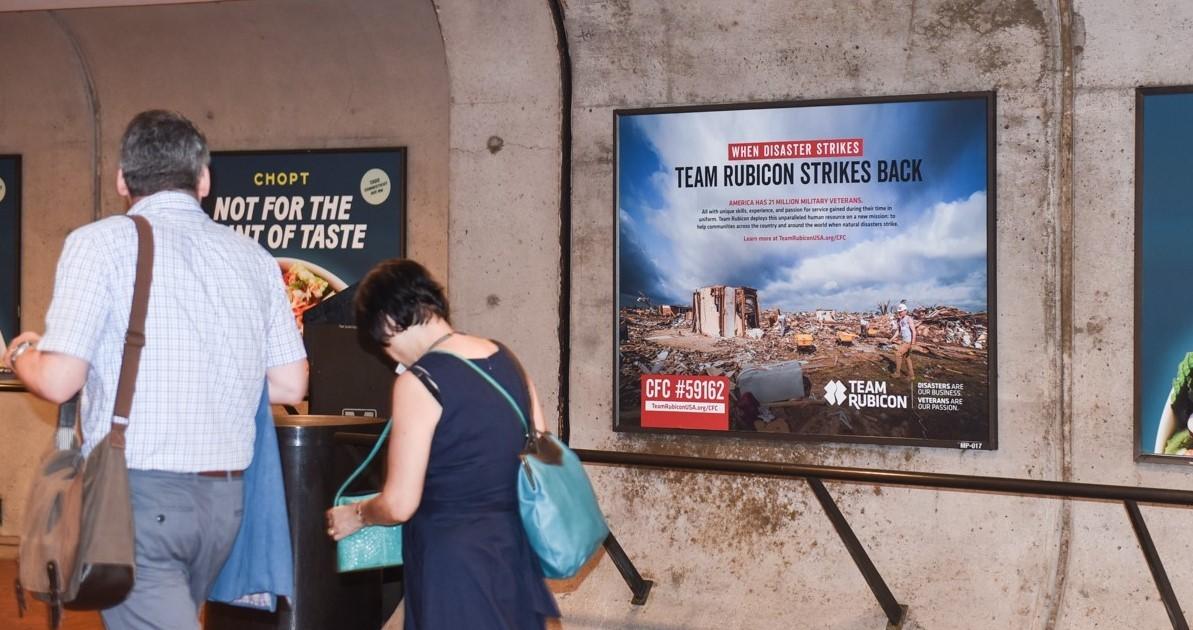 Team Rubicon Subway Platform Poster Advertising