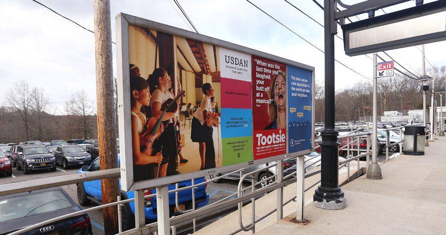 Usdan Summer Camp Rail Platform Advertising