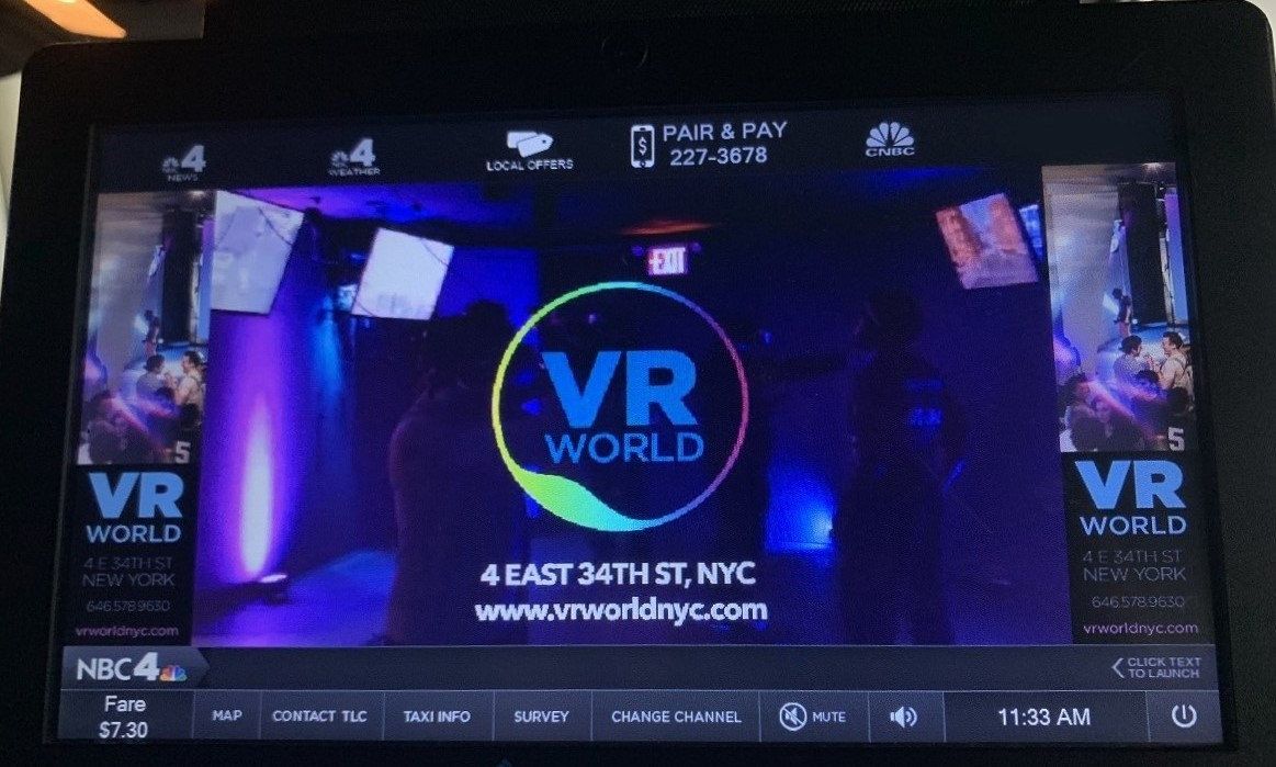 VR World Taxi Tv Advertising