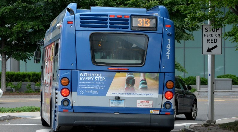 Westmed Bus Tail Advertising