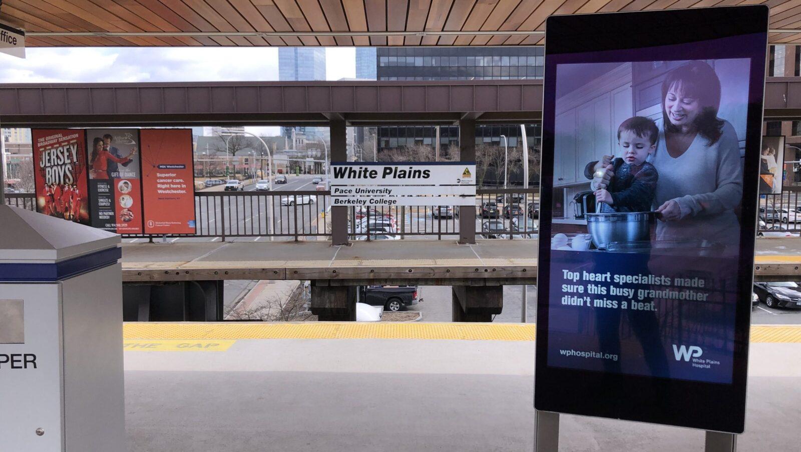 White Plains Hospital Rail Digital Platform Advertising
