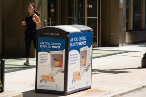 Chicago Solar Recycling Kiosk Advertising