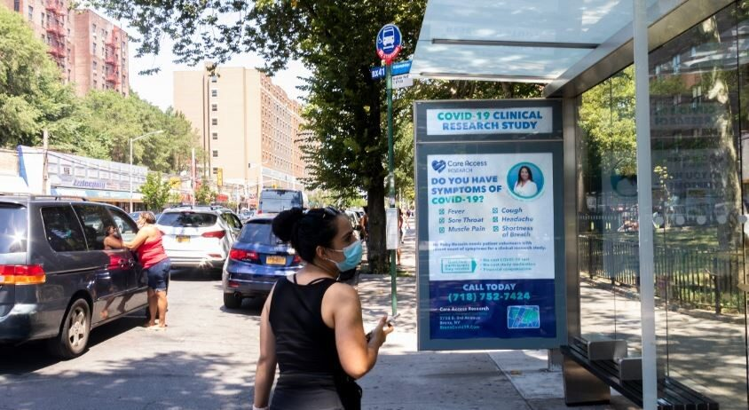 Care Access Research Bus Shelter Advertising