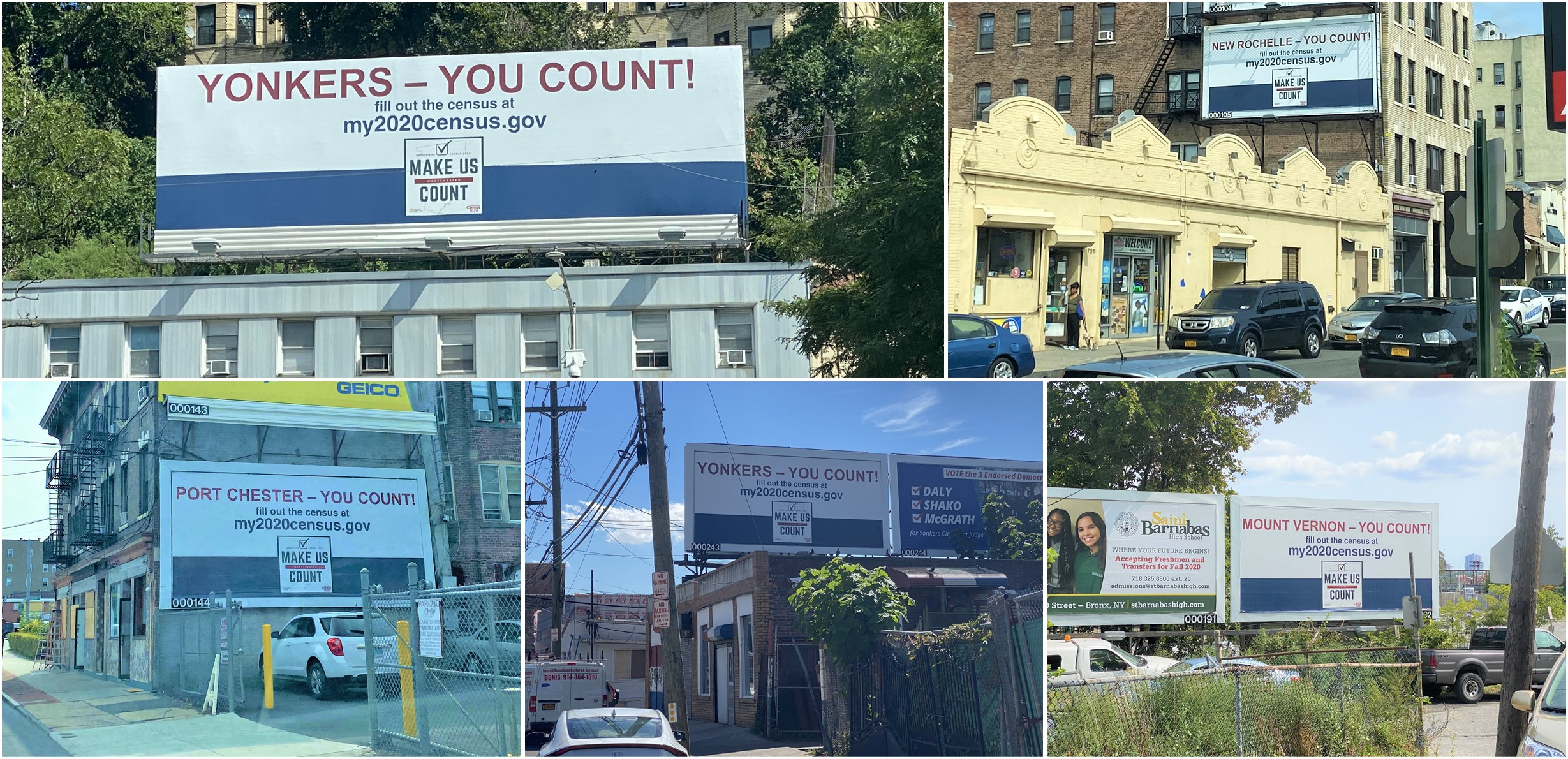 Westchester Census Social Media Post Collage