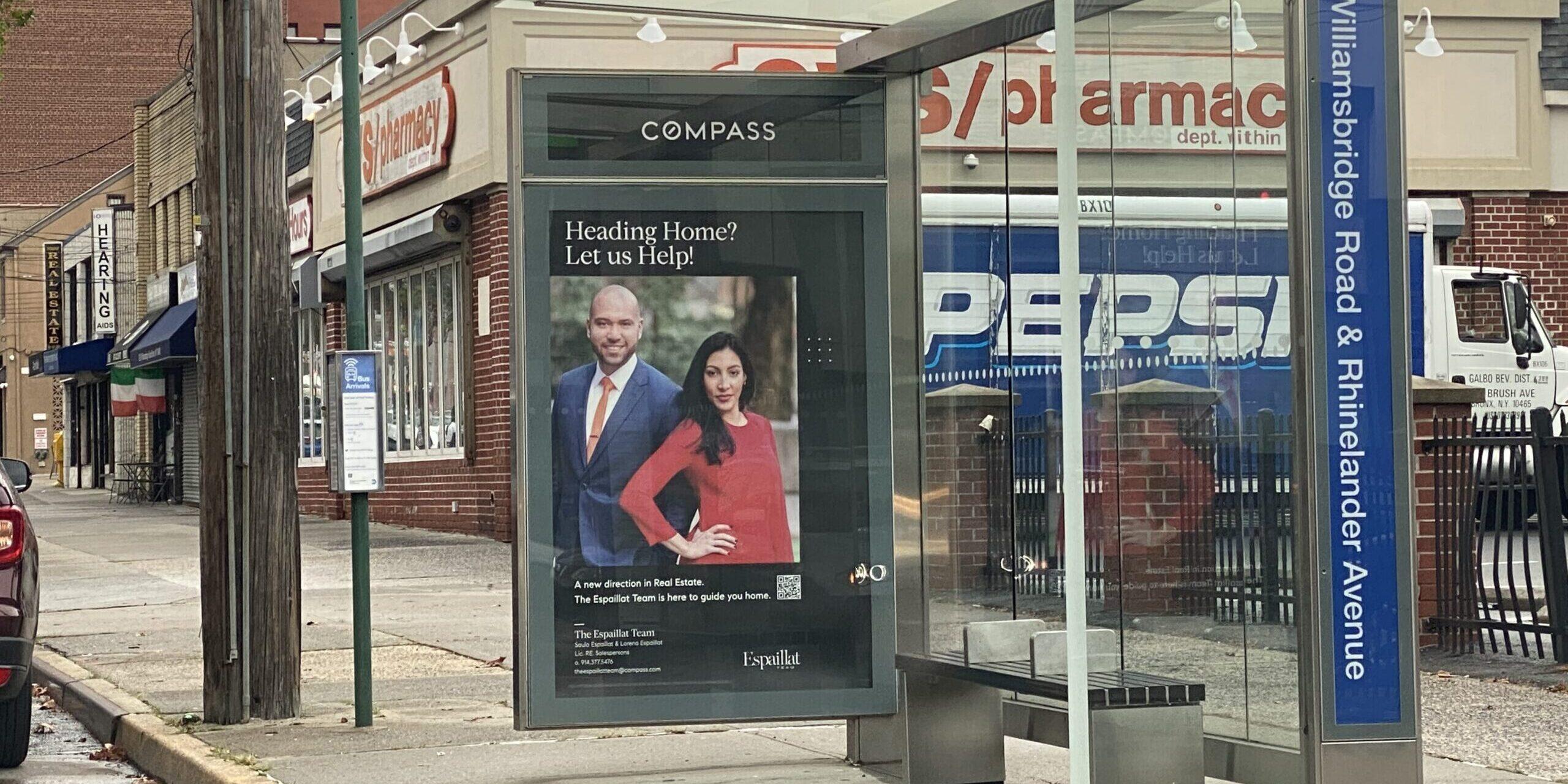 Compass Espaillat Team Bus Shelter Advertising
