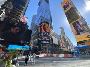 Times Square Nasdaq Digital Billboard Advertising Inspiria Outdoor Campaign