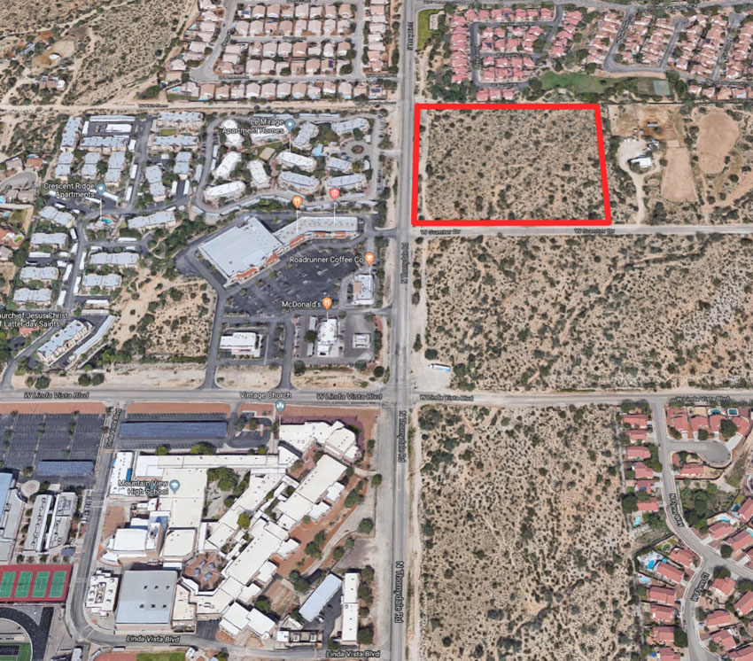 Vacant Land For Sale 10.5 Acres NEC Thornydale and Sumter in Pima County